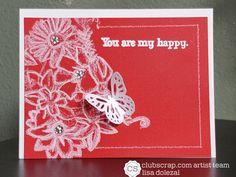 Rockin Paper Scissors and Glue: White Weathered Florals | Weathered Florals UM Challenge