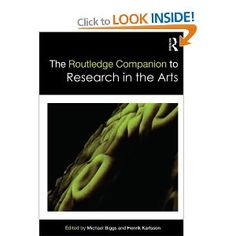 The Routledge Companion to Research in the Arts -  Michael Biggs, Henrik Karlsson: Books