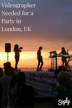 Event videographer needed for a Single Launch Party in London, UK at the Ritzy in Brixton. If you are interested in shooting this party, click on the pin!   #soplyhq