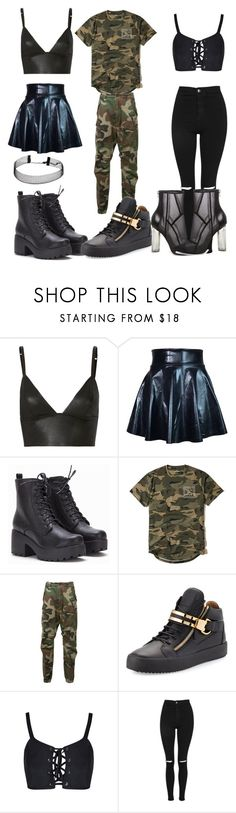 """""""best friends night out"""" by camren2 on Polyvore featuring T By Alexander Wang, Hollister Co., R13, Giuseppe Zanotti, Topshop and Steve Madden"""