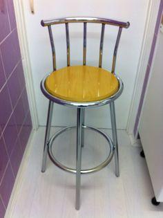 Modern - Breakfast Bar Stool - Pine - Chrome Chair. LOWEST PRICE - MUST GO NOW!