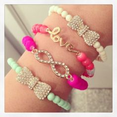 Assorted Bracelets From Modern Mix Boutique. Stack-able, fun, sexy, hottest bracelets you wont find anywhere else. Your going to want these! Follow me ✣✫Creative Pinner✣