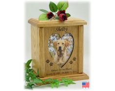 Large Pet Urn - Wood Photo Pet Urn, Dog Urn and Cat Urn