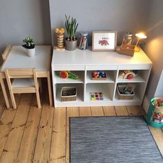 How to create a child-friendly (and pocket-friendly!) Montessori space in your dining room. Link in profile. #montessoriathome #motheringthroughinstagram #motherhoodthroughinstagram #babies #interiordecor #childhood