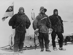 Stoic: Antarctic explorers (left to right) Ernest Shackleton (1874-1922), Robert Falcon Scott (1868-1912 and Edward Wilson (1872-1912)