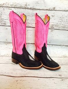 """Anderson Bean """"Neon Warrior"""" pink cowboy boots! These will brighten up anyone's day."""
