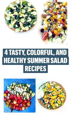 Summer Salad Recipes, Summer Salads, Gluten Free Recipes, Low Carb Recipes, Healthy Eating Recipes, Healthy Foods, Salads Up, Blueberry Salad, Watermelon And Feta