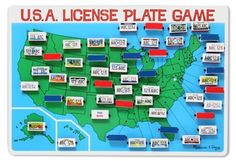 Melissa & Doug License Plate Game -- $16.14 -- Great toy to keep in the car. Once you find that state's license plate, the state capitol is revealed! Fun and educational! -- http://www.amazon.com/dp/B001QVI9CI/ref=cm_sw_r_pi_awd_39cesb0G0M6JT