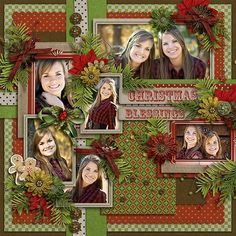 This page is busy, but I love the red & green, definitely looks a lot like Christmas!
