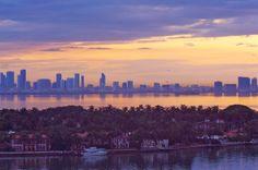Downtown Miami skyline.