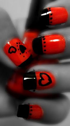 This week: LOVEly red and black french design with hearts.