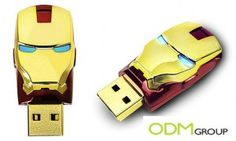Marketing gift by Nutrexpa in Spain: Iron Man Designed USB