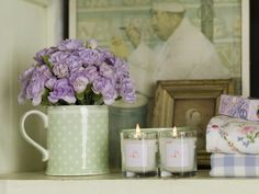 All you need is flowers, candles and... GreenGate