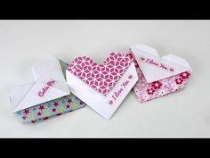 Origami Herz falten DIY Geschenk, Tasche oder Umschlag - einfach und schnell - deutsch, My Crafts