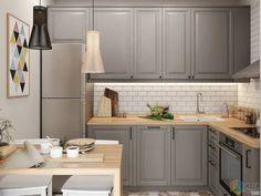 Kitchen simple design home new Ideas Small Kitchen Layouts, Kitchen Tiles Design, Interior Design Kitchen, Kitchen Flooring, Kitchen Furniture, Kitchen Decor, Furniture Showroom, Luxury Furniture, Kitchen Island Storage
