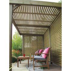 Pergola For Small Backyard Wooden Garden Gazebo, Garden Canopy, Patio Canopy, Backyard Pergola, Small Backyard Landscaping, Pergola Ideas, Pergola Plans, Backyard Seating, Garden Pallet