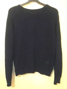 This Light Weight Pullovers are crafted from Soft Wool Blend. Perfect for Smart or Casual Occasion. Ribbed Trims – Cuffs, Waistband and Neck. Winter Jumpers, Cable Knit Jumper, G Star Raw, Wool Blend, Crew Neck, Navy Blue, Pullover, The Originals, Knitting