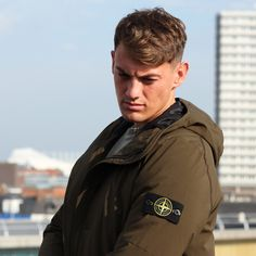 Stone Island Jacket | Khaki Soft Shell | Available online and in store  http://www.aphrodite1994.com/brands/stone-island/stone-island-hooded-jacket-khaki-9757