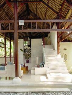 Beautiful area: Villa Seseh Serasi By Architect GPA Architecture + Interiors Tropical Architecture, Interior Architecture, Best Decor, Thatched Roof, Tropical Houses, Tropical House Design, Bungalows, Ubud, My Dream Home