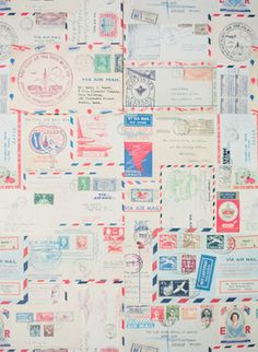 vintage stamps and air mail   Michelle March
