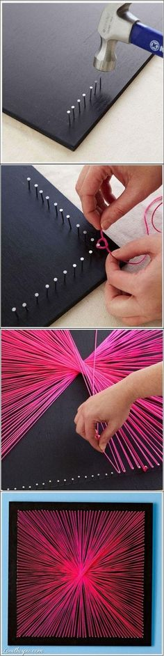 Don't throw your extra string away -- make these crafts with it.