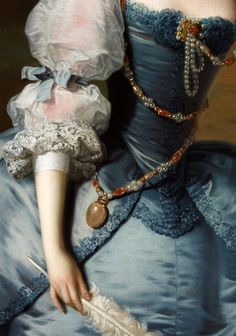 ♥ ~ ♥ Blue and White ♥ ~ ♥ Thomas Hudson, Lady Oxenden, circa detail. Historical Costume, Historical Clothing, John William Godward, Outlander Costumes, Lady, 18th Century Fashion, Classical Art, Detail Art, Renaissance Art