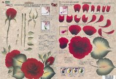 red one stroke rose - Google Search