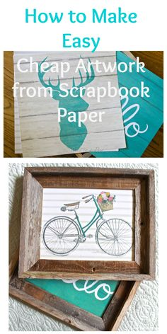How To Make Easy Cheap Artwork with Scrapbook Paper - 2 Bees in a Pod