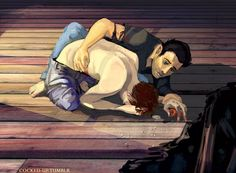 derek and stiles fan art - Cerca con Google<< NOOO THIS IS NOT OKAY STILES