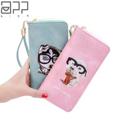 APP BLOG Unique Original Design Embroidered Dog Lady Women's Purse Fashion Clutch Wallet Phone Bag Girl Carteira Feminina Mujer. Yesterday's price: US $26.00 (21.28 EUR). Today's price: US $9.88 (8.15 EUR). Discount: 62%.