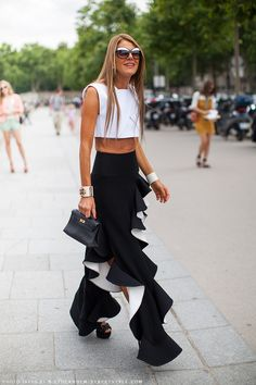 anna dello russo-I dunno if this is pants or skirt, but I would like to make a skirt like this. Anna Dello Russo, Summer Fashion Trends, Milan Fashion Weeks, London Fashion, Street Fashion, Fashion Editor, Fashion Stylist, Pin Up, Street Chic