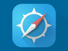 Safari iOS 7 App Icon Redesign by Anon Wuttowsky. Web Design, Flat Design Icons, App Icon Design, Ui Design Inspiration, Design Trends, Logo Design, Flat Icons, Flat Ui, Graphic Design