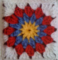 "Karen Wiederhold: Free Crochet Pattern: ""Snazzy Circle"" Squares"