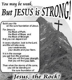 Jesus is strong