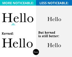 In this article, we talk about the definition of kerning and its importance in design. Learn more about kerning here, and start kerning like a pro! School Design, Advertising, Typography, Social Media, Thoughts, Learning, Words, Creative, Literacy