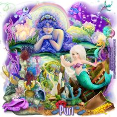 """""""The Guards of the sea"""" Josephine Wall, Tinkerbell, Disney Characters, Fictional Characters, Graphics, Fantasy, Sea, Disney Princess, Graphic Design"""