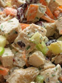 Chris wanted chicken salad for his lunch this week so I figured this would be good.  It's quite easy to make and really good. The only thi...