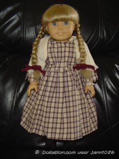 Kirsten in her Plaid Dress and Shawl   Dollation