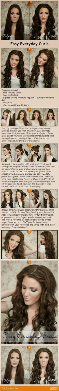 Bonjour Healthy Lifestyle: Before and After: How To Make Easy Hair Curls Everyday