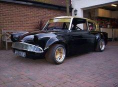 Anglia, ready to drag ! Custom Hot Wheels, Custom Cars, Ford Motor Company, Pimped Out Cars, Rat Rod Cars, Ford Anglia, Ford Lincoln Mercury, Bmw S, Ford Classic Cars