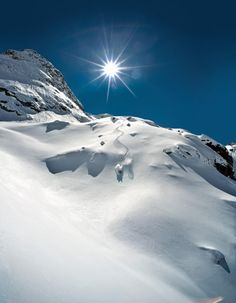 A powder skier's dream. #Snow #Powder #Freeskiing #Freeriding