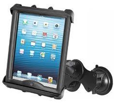 """Fits iPad Mini RAM Twist-Lock Suction Cup Mount w// Tab-Tite Cradle f// 8/"""" Tablet"""