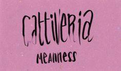 cattiveria   Italian for my girlfriend