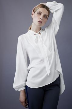 Get Shirty TIGER OF SWEDEN Halia Blouse. Read more on our favourite blouses for this fall from stockmann.com/inspiroidu #stockmann #inspiroidu