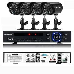 Floureon 4CH Onvif 960H DVR  4x Outdoor 900TVL Waterproof IRCut Bullet Security Cameras Security Kit No HDD -- You can get more details by clicking on the image.Note:It is affiliate link to Amazon.