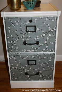 take a file cabinet and some vinyl bing bong boom..pretty! | A ...