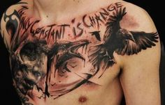 raven tattoo- the only constant is change