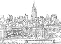 Illustrated Maps | Brooklyn Bridge for ArtvCancer