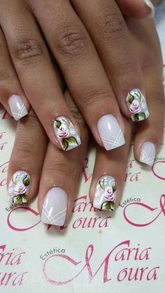 healthy meals for dinner easy meals ideas free Gorgeous Nails, Pretty Nails, New Nail Art, Flower Nails, Stylish Nails, Cookies Et Biscuits, Nail Arts, Manicure And Pedicure, Beauty Nails