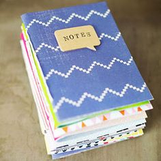 In an hour, you can create pretty DIY journals that resemble hand-bound books with just twine, a hole punch, and plain and decorative paper! Great gift idea!